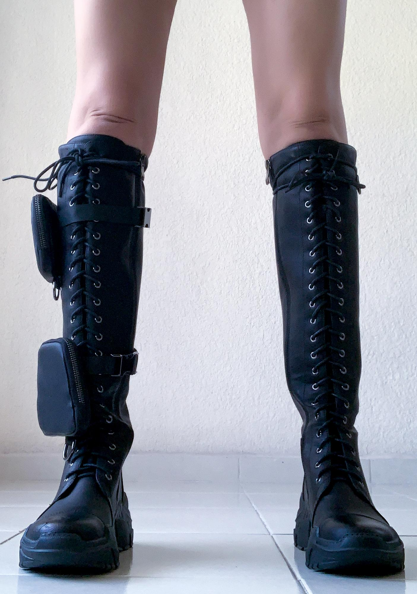 Poster Grl Find My Funds Pocket Combat Boots