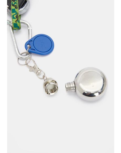 Sneak A Shot Mini Circle Flask