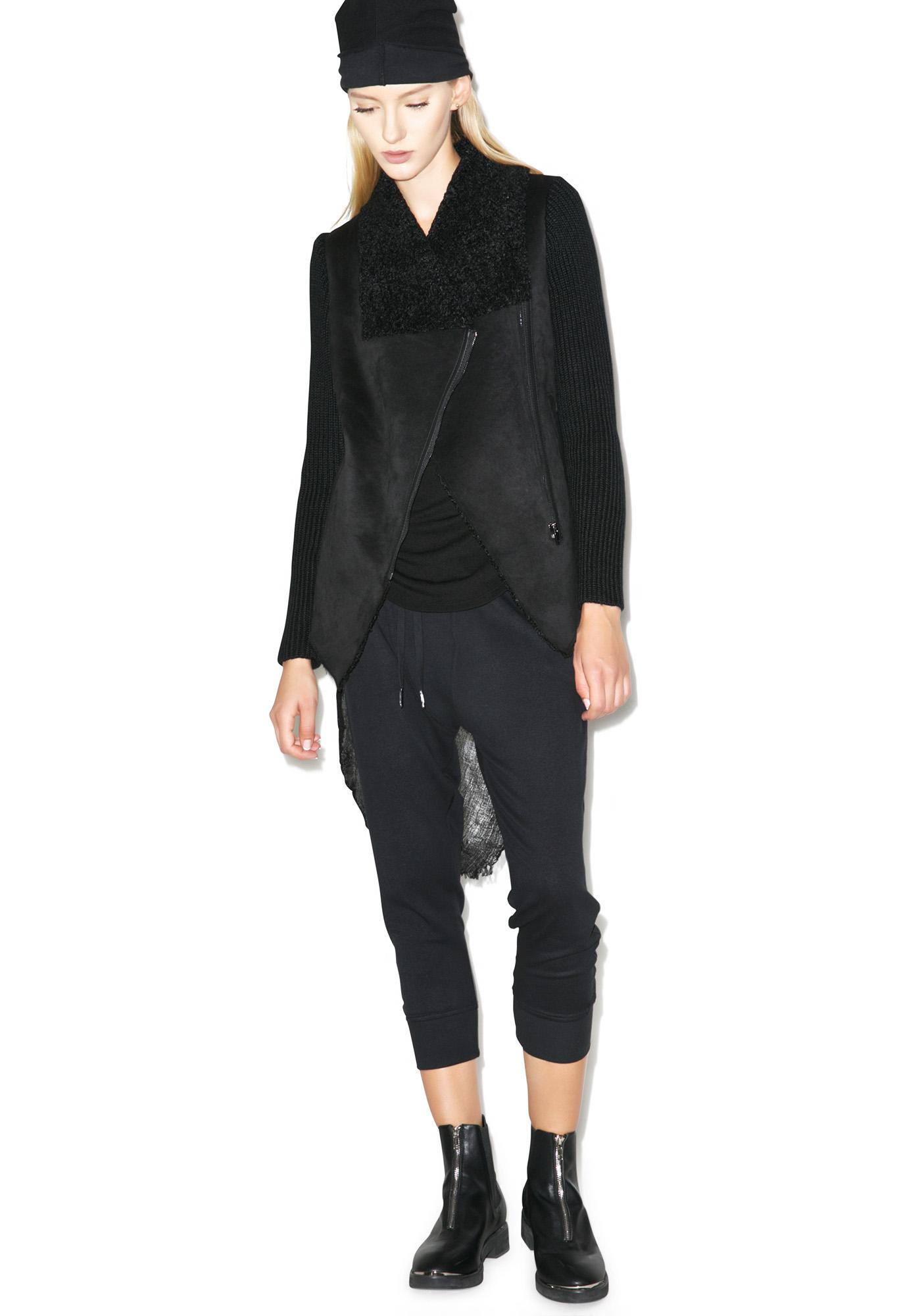 Blank NYC Haute Hipster Faux Fur-Trim Jacket