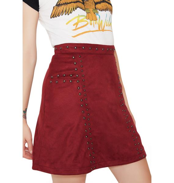 Glamorous You Wish Studded Mini Skirt
