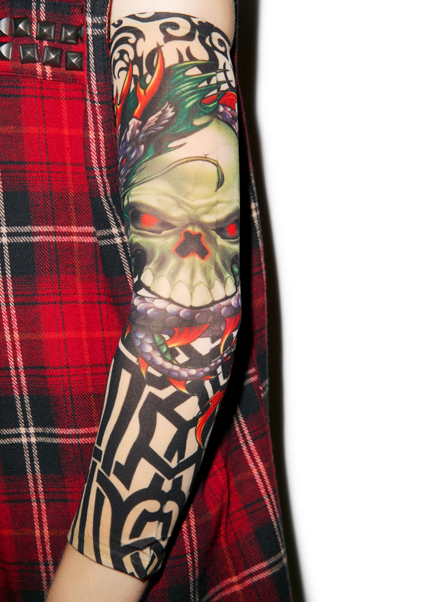 Enter the Skull Dragon Tattoo Sleeves