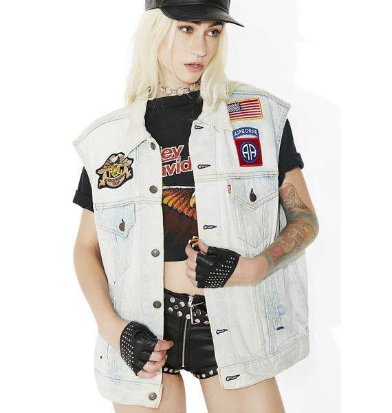 Vintage Levi Strauss Patchwork Vest