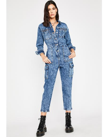Thirsty Miss Reckless Denim Jumpsuit