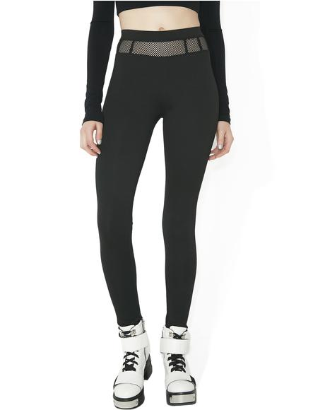 No Mistakes Mesh Panel Leggings