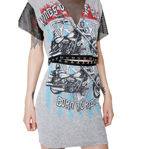 Speed Demon Graphic Bodycon Skirt