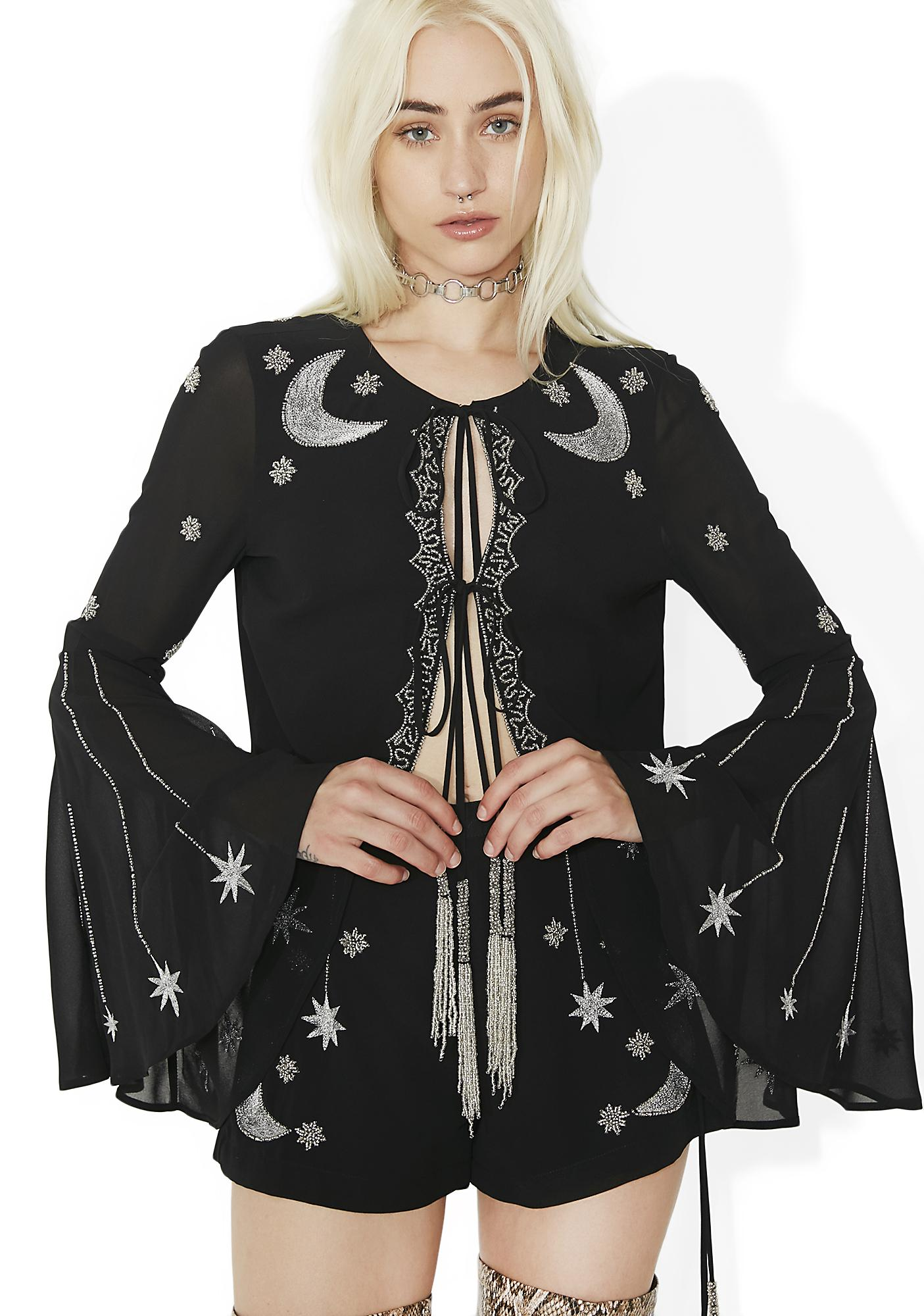Current Mood Bad Moon Risin' Beaded Bolero