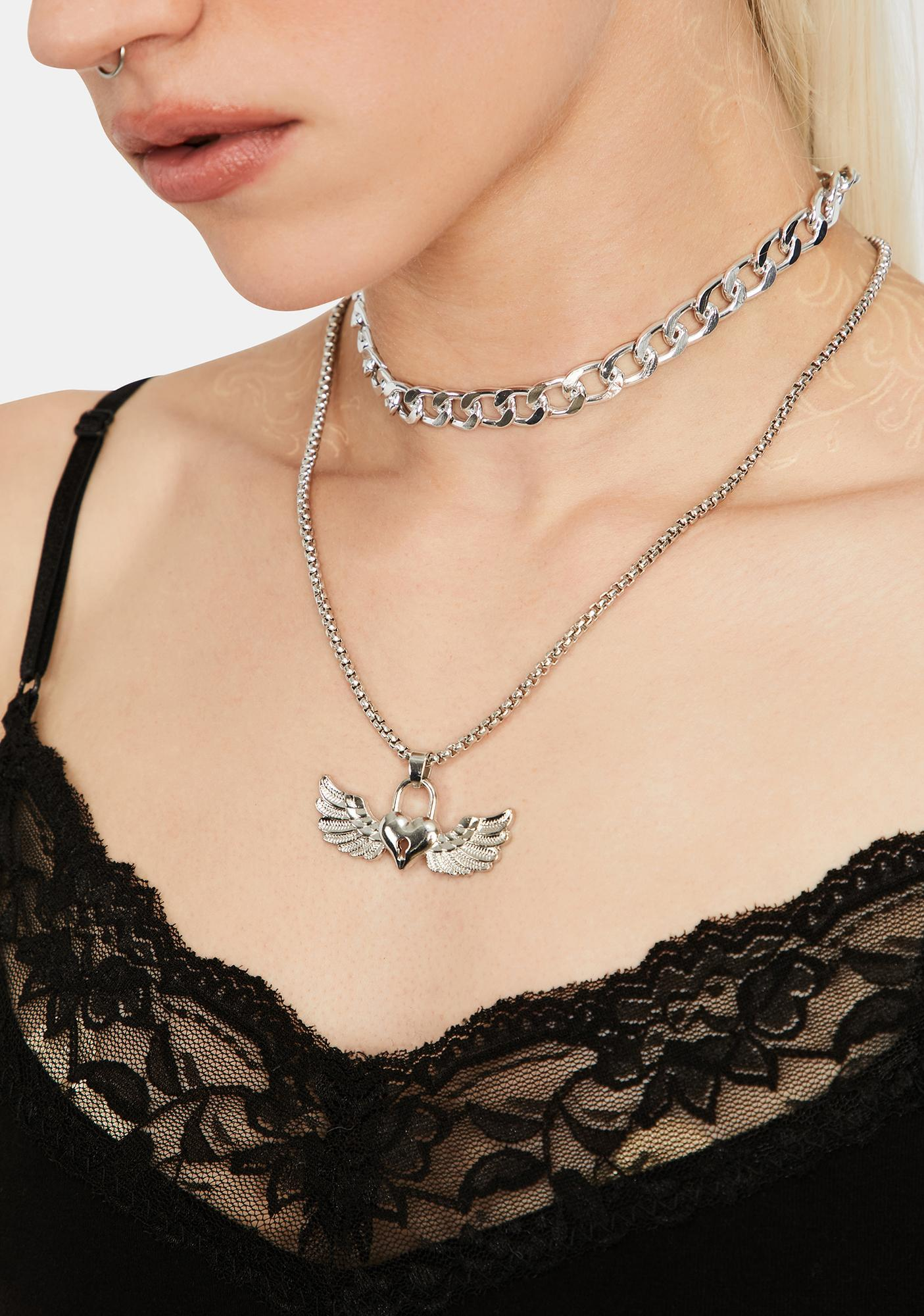 All A Flutter Charm Necklace