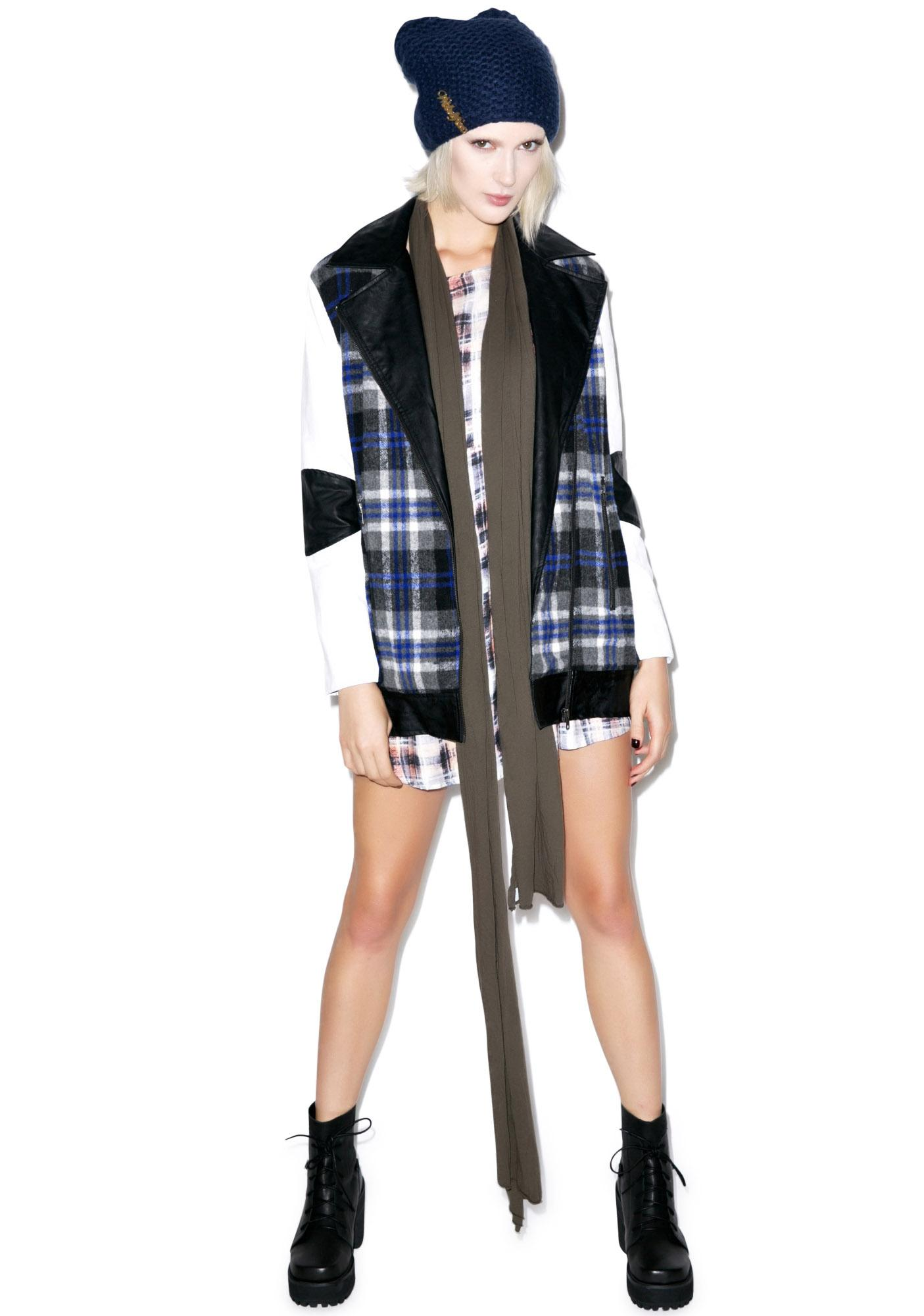 Mink Pink Miss The Bus Coat