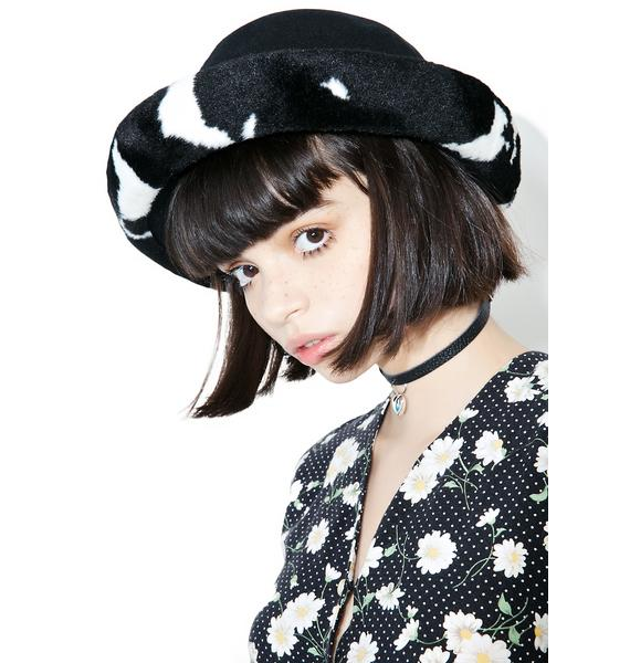 Vintage Cow Print Hat