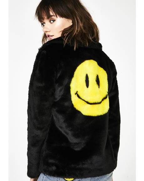 Pure Euphoria Faux Fur Coat