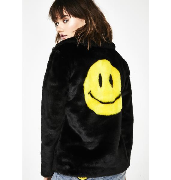 dELiA*s by Dolls Kill Pure Euphoria Faux Fur Coat