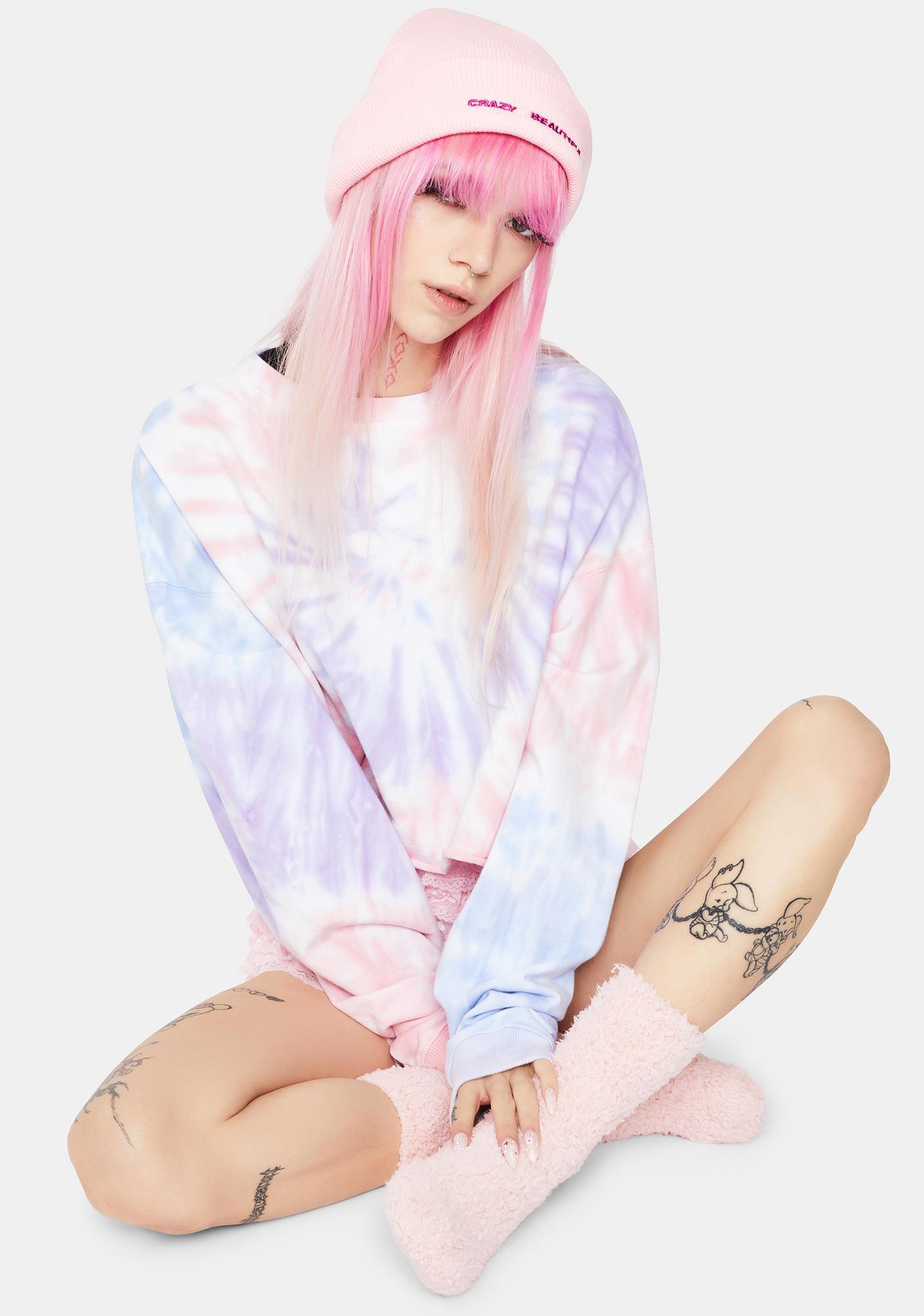 MeMoi Pink Teddy Bear Plush Crew Socks
