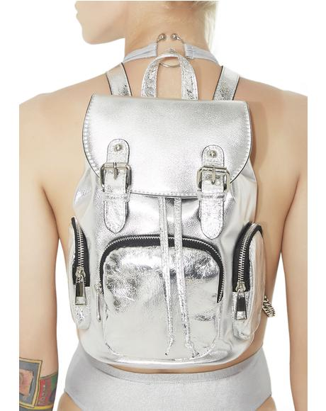 Retrograde Metallic Mini Backpack