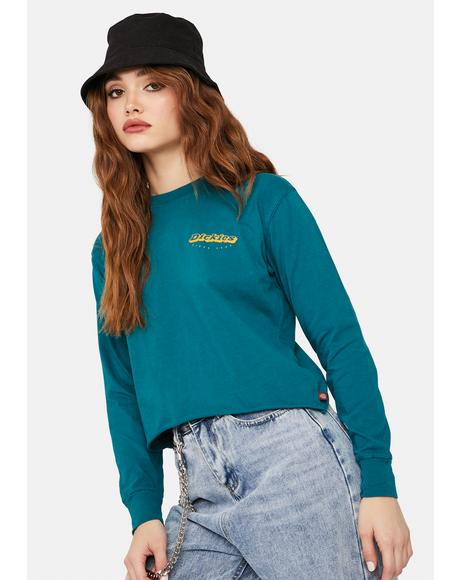 Deep Sky Long Sleeve Crop Tee
