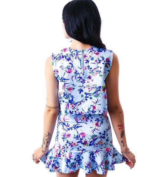 Flora Peplum Talk Skirt