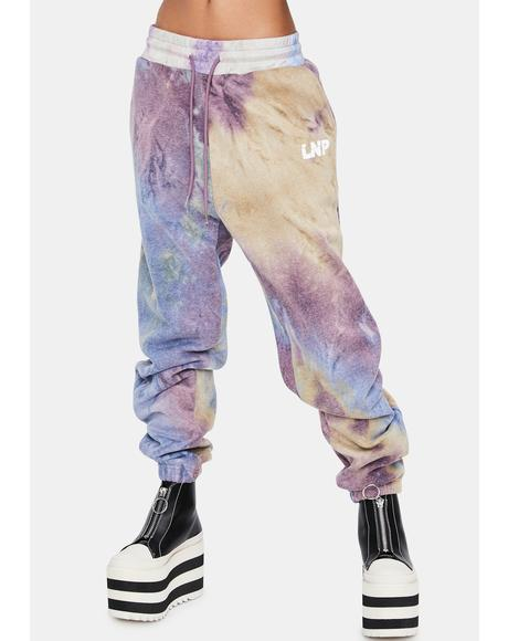 Lilac Tie Dye Relaxed Fit Joggers