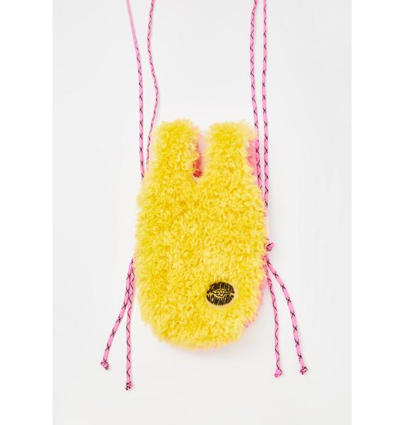 Somewhere Nowhere Yellow Duo Fluff Bottle Tote Bag