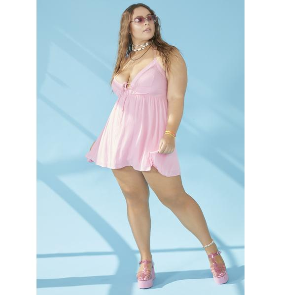 dELiA*s by Dolls Kill Total Beach Bum Halter Dress