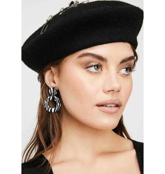 Wild Baddie Circle Earrings
