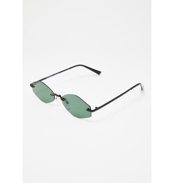 Onyx So Electric Rimless Sunglasses