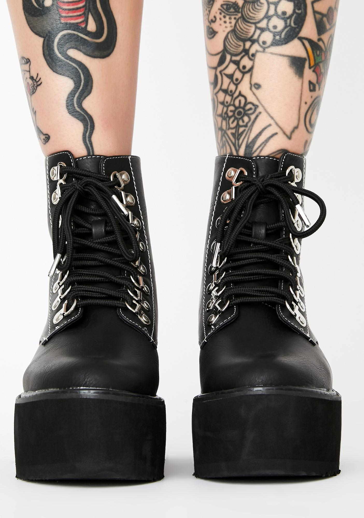 Current Mood Mortal Think Twice Platform Boots