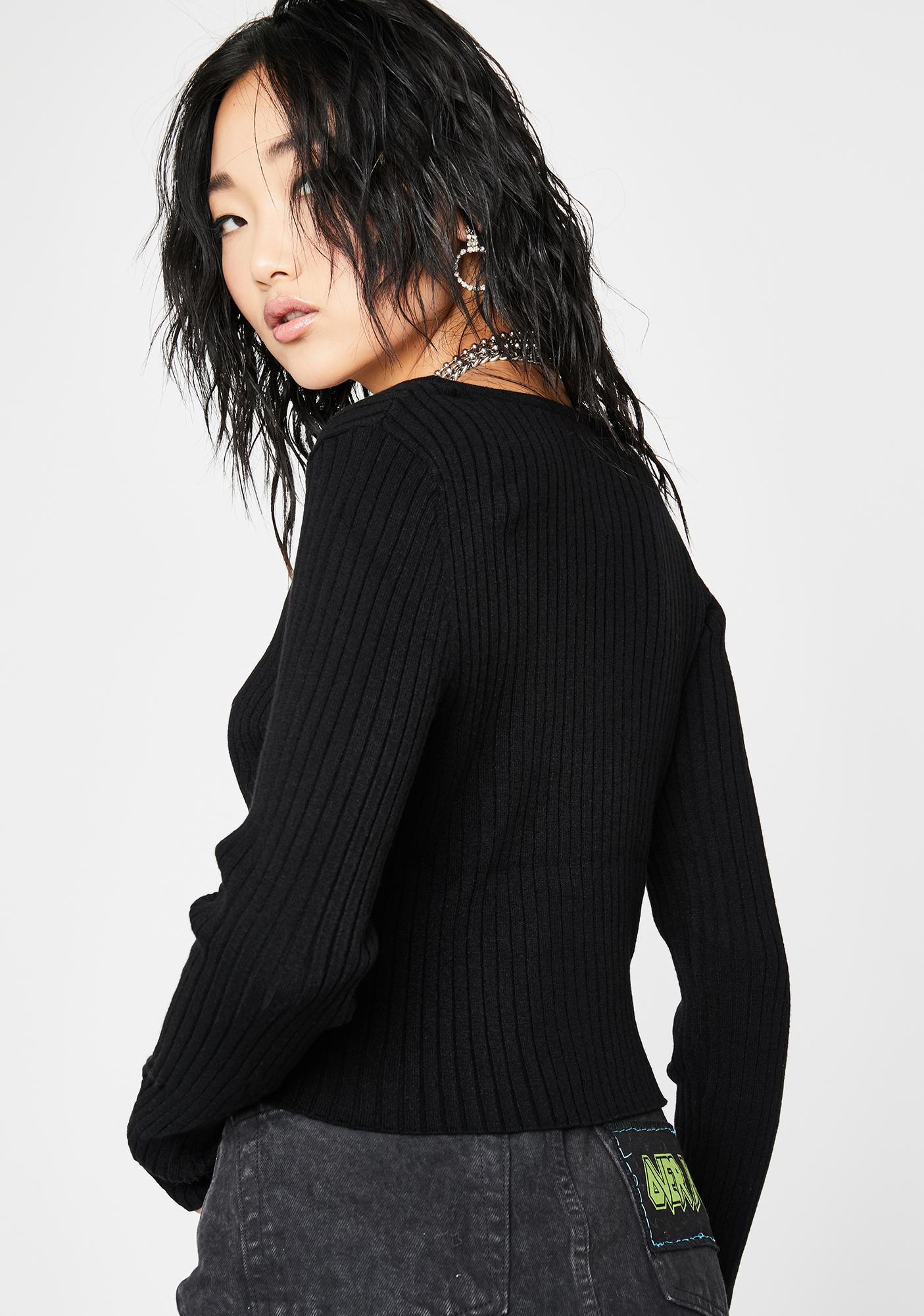 Guilty Flirt Cropped Sweater