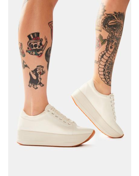 White Casey Platform Sneakers