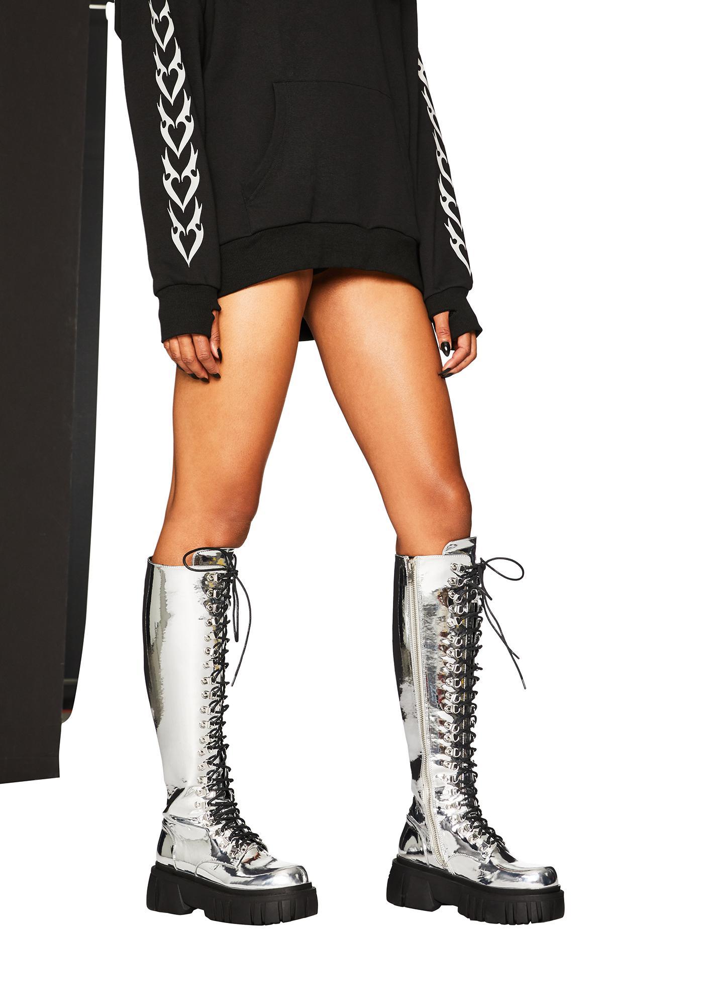 Club Exx Cosmic Ray Combat Boots