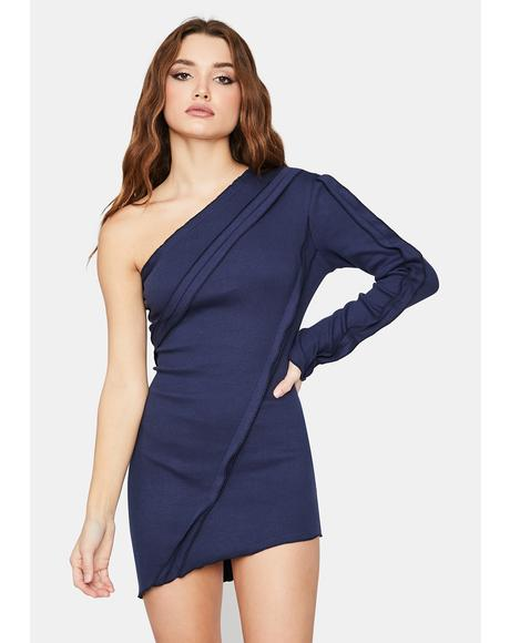 New Adventures One Shoulder Mini Dress
