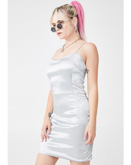 Satin Strap Slip Dress