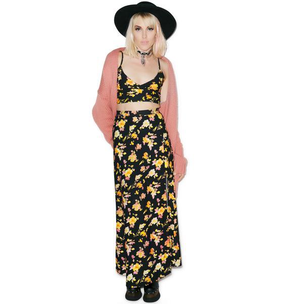 Motel  Floral Marla Maxi Skirt