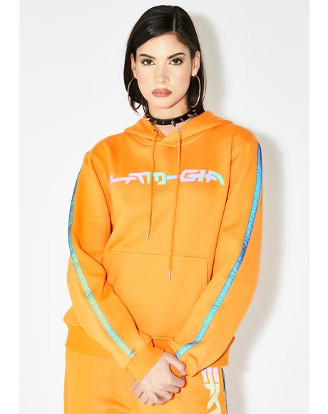 Zandra Reflective Hoodie Sweatshirt