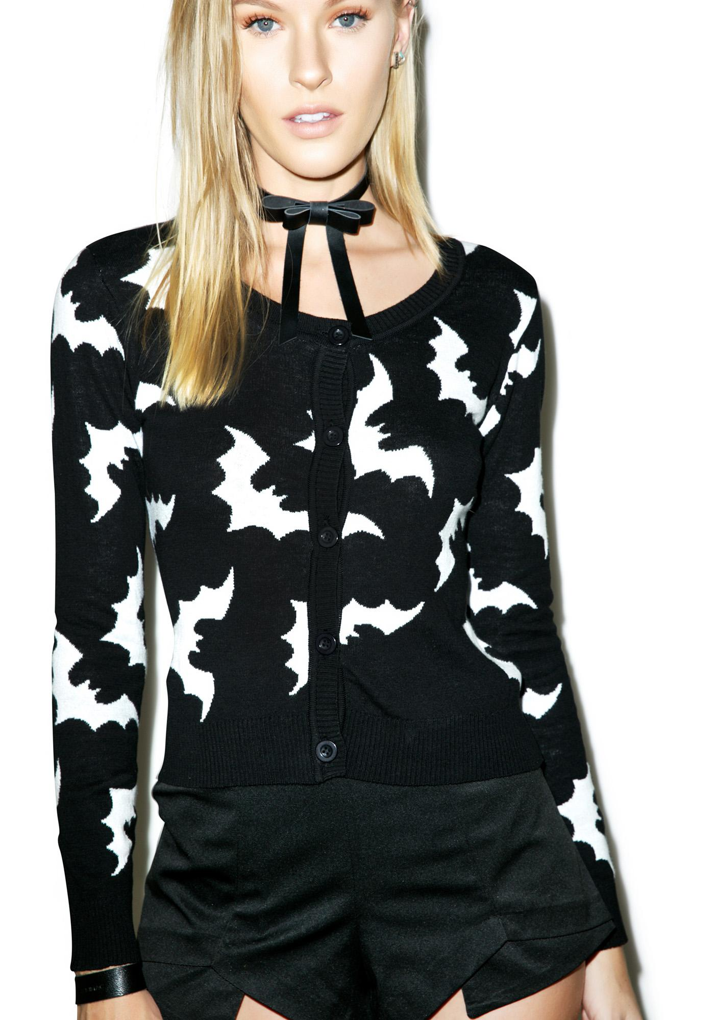 Sourpuss Clothing Batty Cardigan