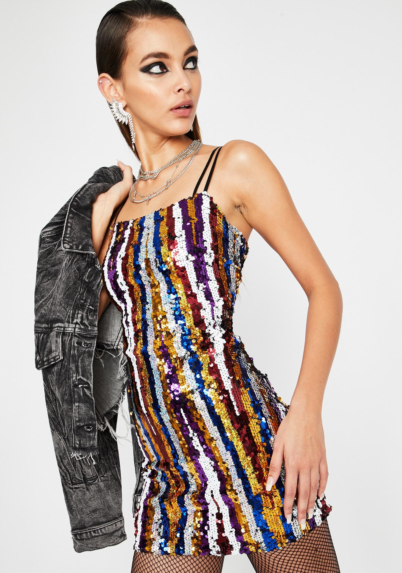 Stay Shinin' Sequin Dress