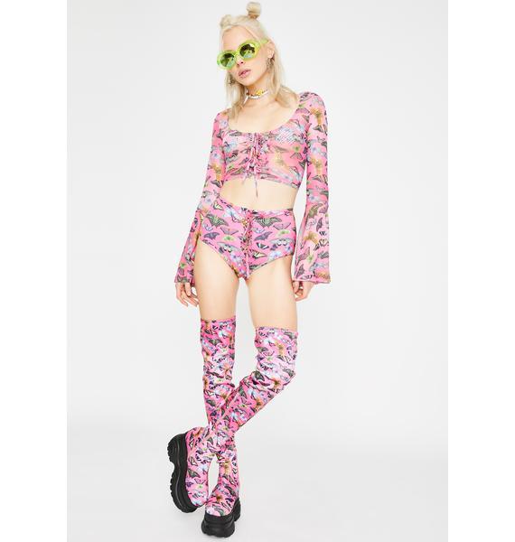Club Exx Lovebug Lace-Up Shorts