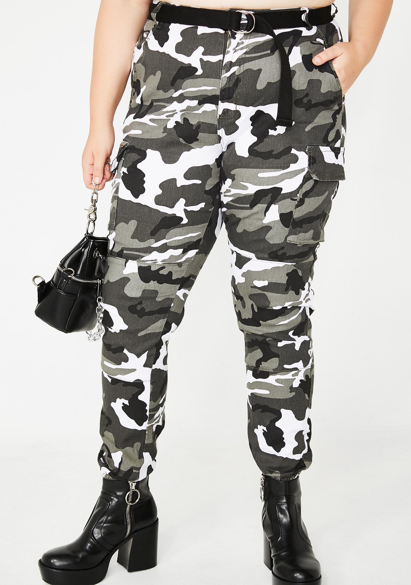 3da2e395 Plus Size Belted Camo Cargo Pants | Dolls Kill