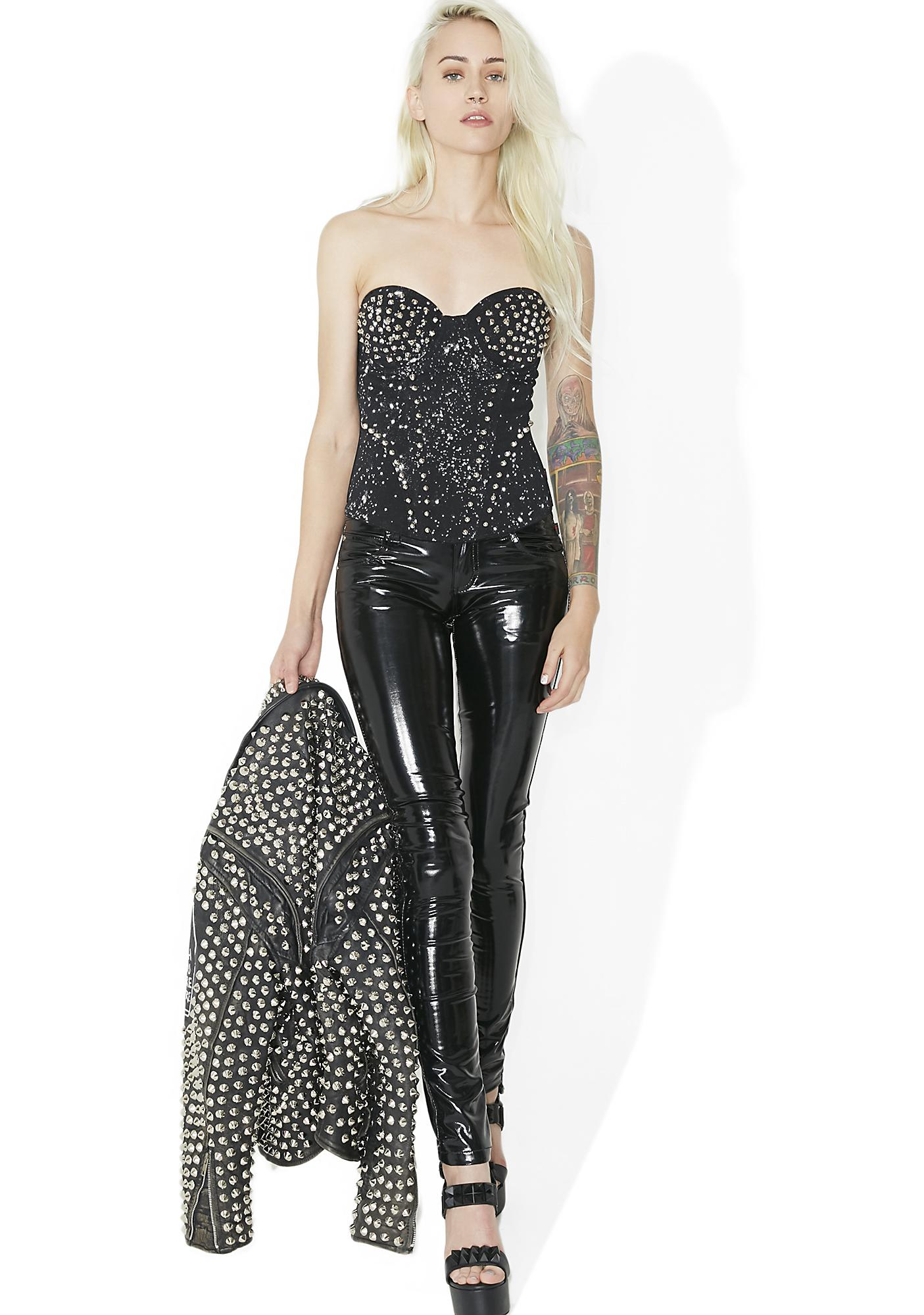Tripp NYC Bleach And Stud Corset