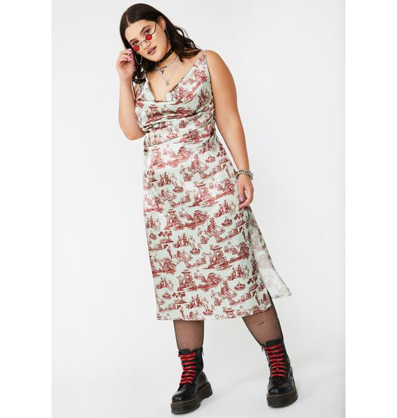 NEW GIRL ORDER Plus Wedgewood Satin Maxi Dress