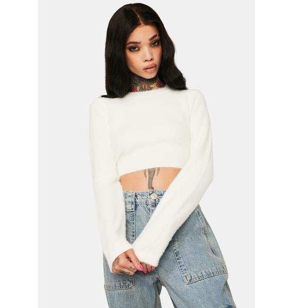 Little Lamb Cropped Sweater