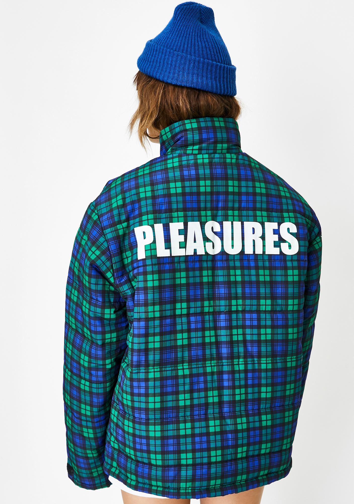 Pleasures Decades Plaid Puffer Jacket