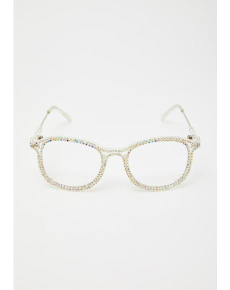 Diva Dilemma Rhinestone Glasses