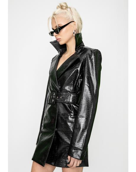 Veronica Snake Blazer Dress