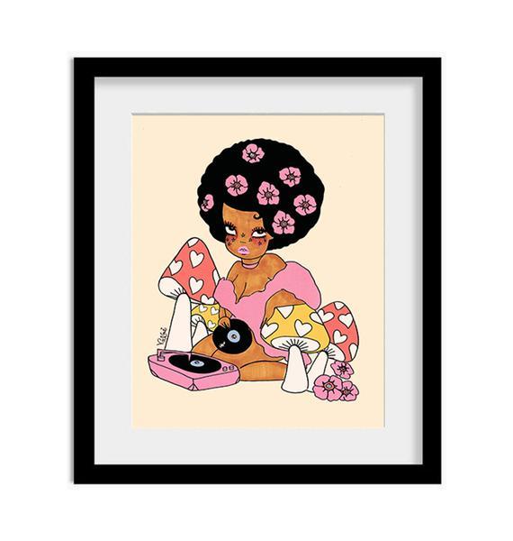 Valfré Afro Love Art Print