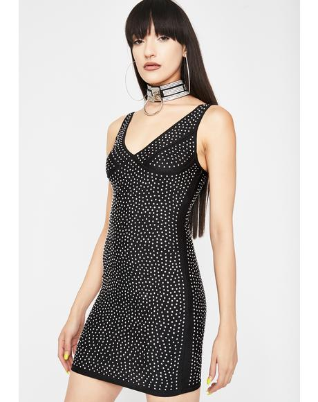 Night Galactic Glare Rhinestone Dress