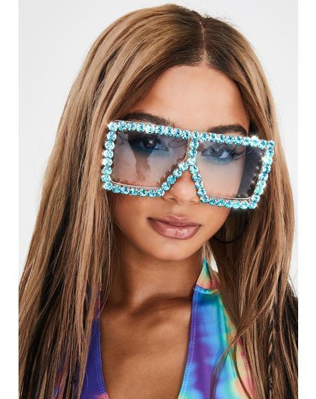 Retro Envy Rhinestone Sunglasses
