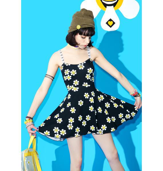 Current Mood Daisy Dropper Skater Dress
