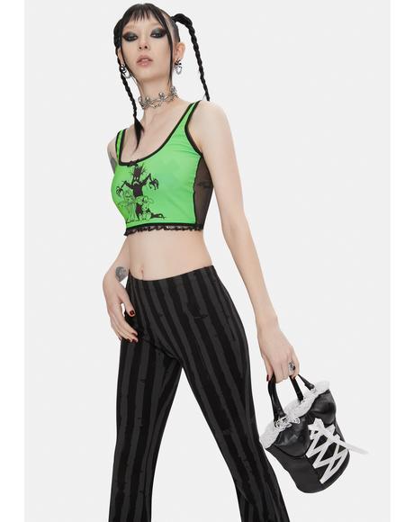 x Yenta Yen Green Crop Top