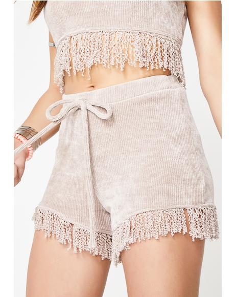 Different Beat Fringe Shorts