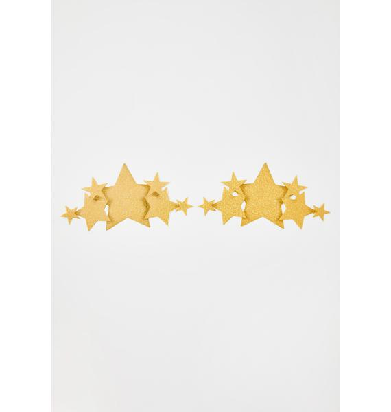 Pastease Gold Glitter Star Demi Pasties