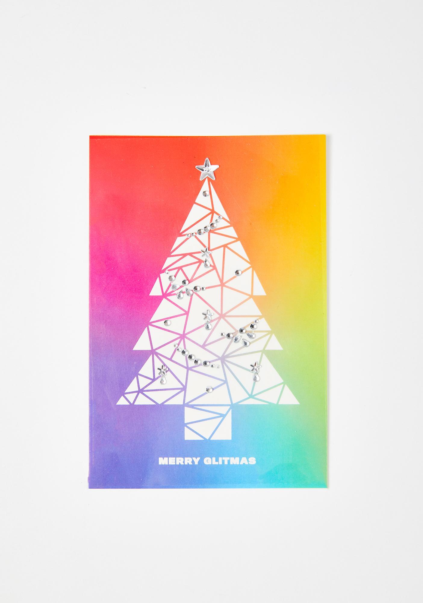Lunautics Merry Glitmas Holiday Card & Face Jewels Mix Pack
